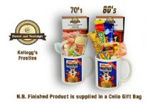 Kellogg's Frosties Mug with/without a selection of 70's or 1980's retro Sweets.